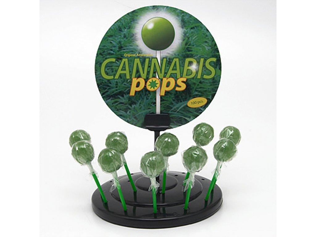 Konopné lízátko Cannabis Pops 1 ks