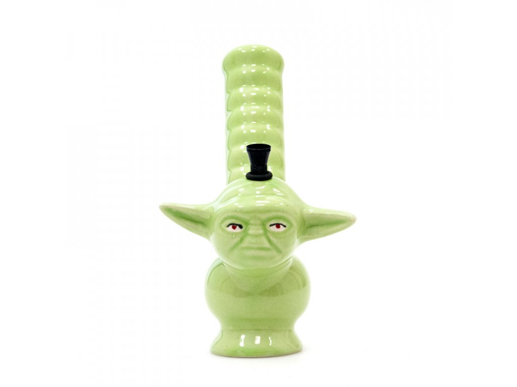 Bong keramika Mr.Yoda II. 21 cm zelená