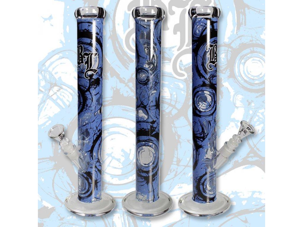 Bong Simax Black Leaf Whirl 45 cm modrá