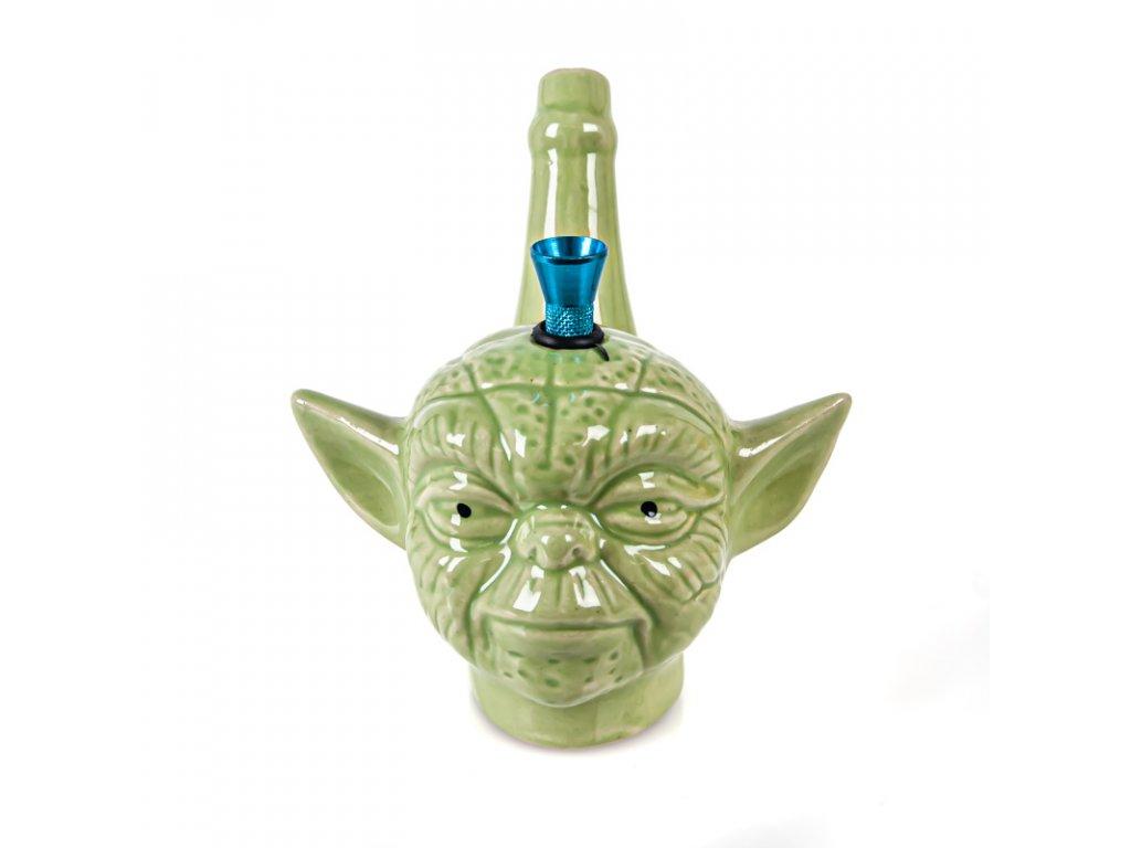 Bong keramika Mr.Yoda 14 cm zelená