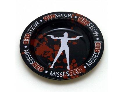 Popelník kovový Misses Red