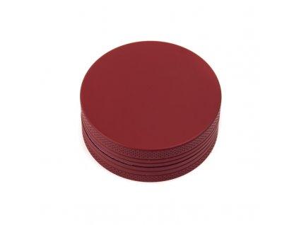 Drtička hliníková CNC 5 cm červená matná