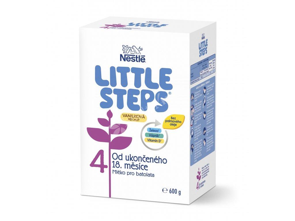LITTLE STEPS 4 Vanilková příchuť, mléčná výživa pro batolata, od ukončeného 18. měsíce, 600 g
