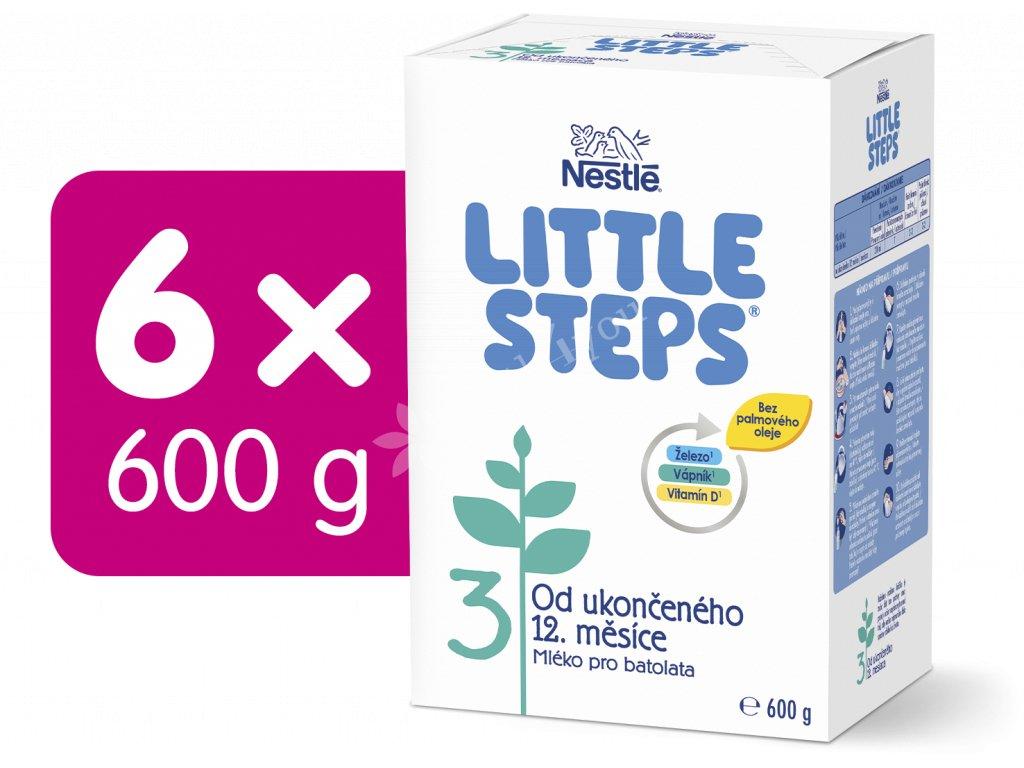 LITTLE STEPS 3, mléčná výživa pro batolata, od ukončeného 12. měsíce, 6x600 g