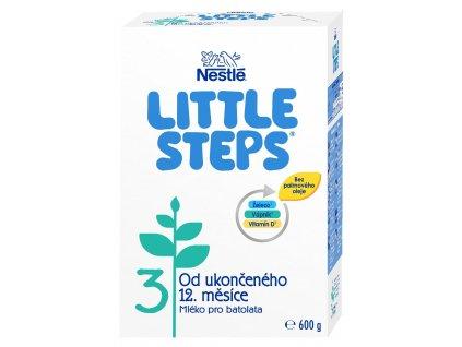 LITTLE STEPS 3, mléčná výživa pro batolata, od ukončeného 12. měsíce, 600 g