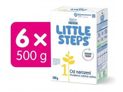 LITTLE STEPS 1, počáteční mléčná kojenecká výživa, od narození, 6x500 g