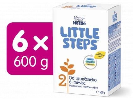 LITTLE STEPS 2, pokračovací mléčná kojenecká výživa, od ukončeného 6. měsíce, 6x600 g