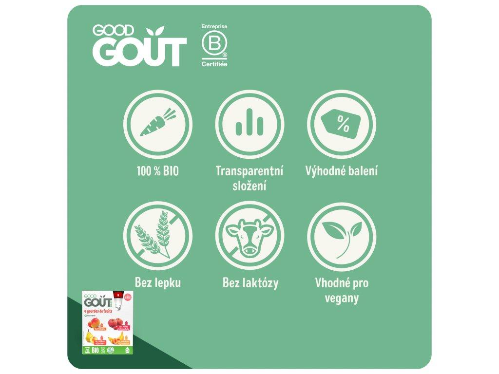 Good Gout BIO variace kapsiček Moje první ovoce