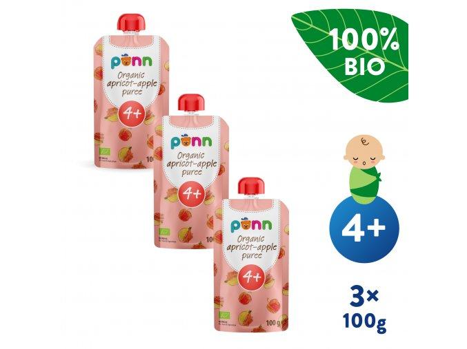 EN UNI Salvest Ponn BIO Merunka s jablkem 3x100g 4740073073292