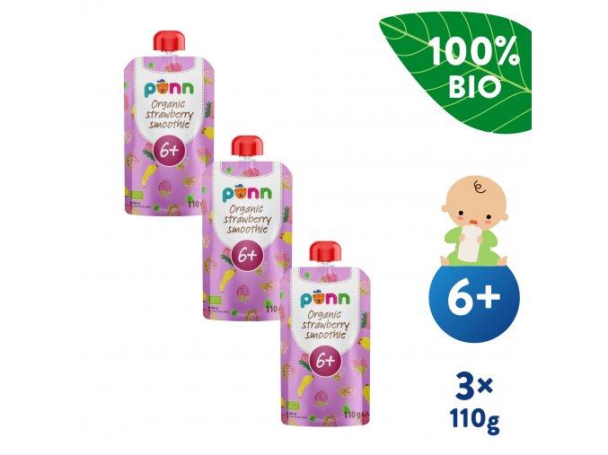 EN UNI Salvest Ponn BIO Ovocne pyre s malinami 3x110g 4740073071243