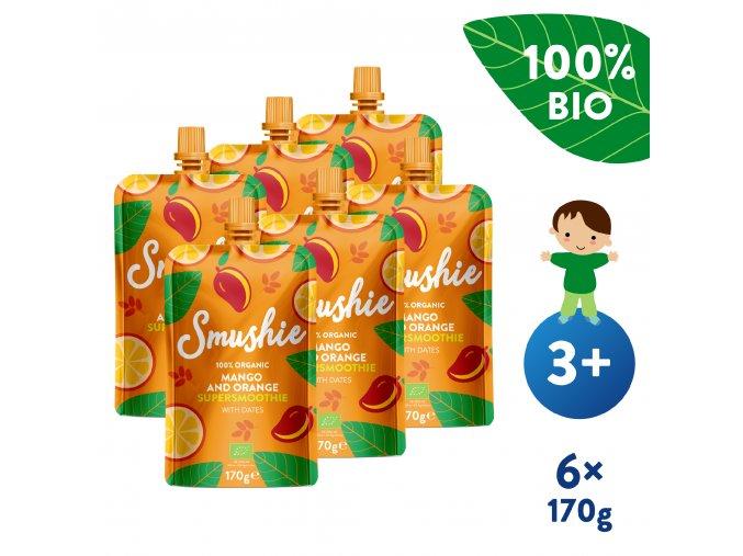 UNI Salvest Smushie BIO Ovocne smoothie s mangem pomerancem a datlemi 6x170g 4740073072639