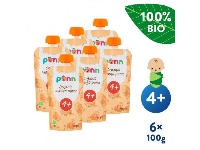 EN UNI Salvest Ponn BIO Mango 100 6x100g 4740073070888