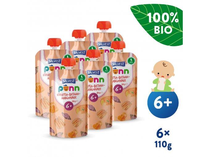 UNI Salvest Ponn BIO Pyre z dyne brambor a manga 6x110g 4740073074558