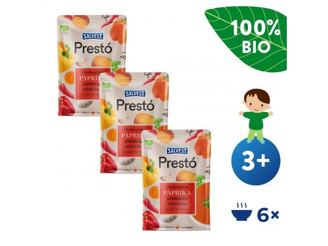 UNI Salvest Presto BIO Polevka z cerstvych paprik bylinek a koreni 3x600g 4740073074633
