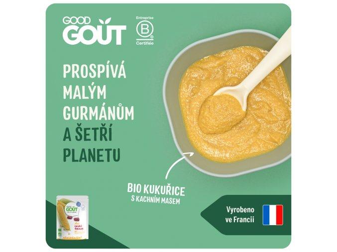 Good Gout BIO Kukuřice s kachním masem 190 g 3770002327371