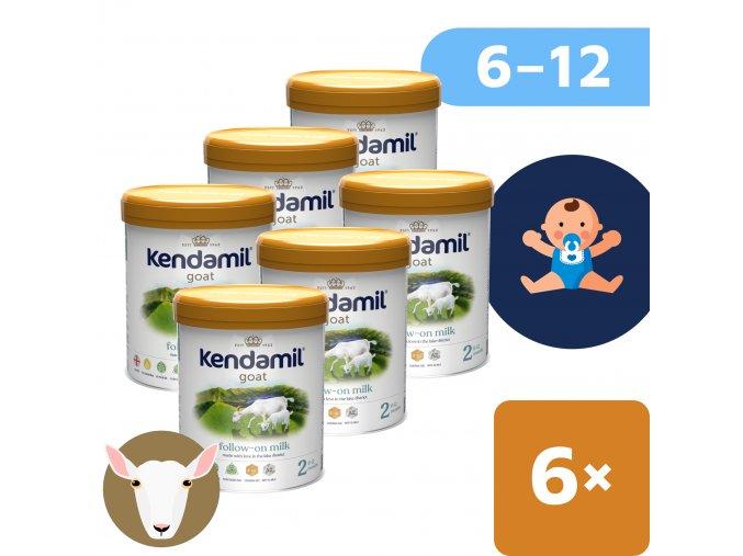 UNI Kendamil Kozi mleko 2 6x800g