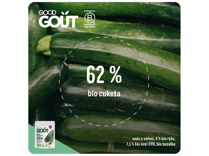 Good Gout BIO Cuketové rizoto s kozím sýrem 190 g 3770002327081