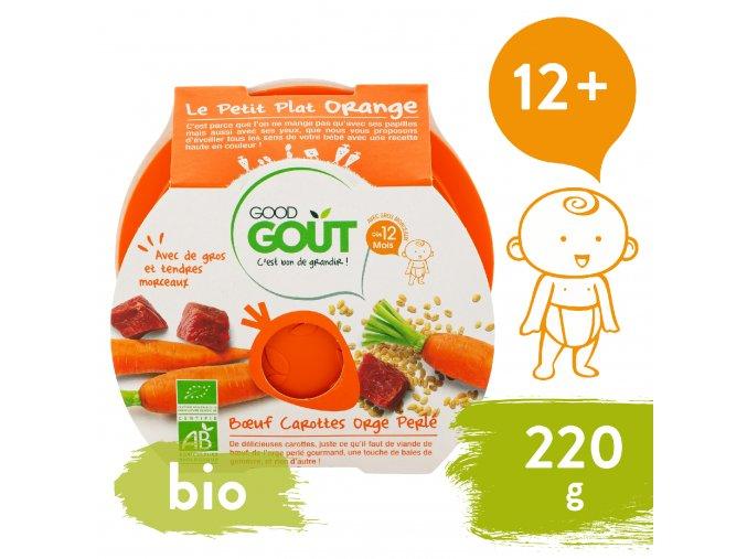Good Gout BIO Hovězí s mrkví a ječnými kroupami 220 g 3760269310568