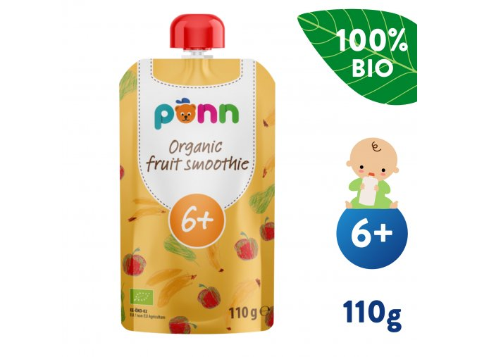 EN UNI Salvest Ponn BIO Ovocne smoothie s ananasem 110g 4740073072226