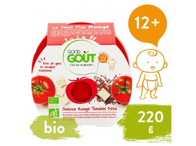Good Gout BIO Rajčátka s červenou quinou a sýrem Feta 220 g 3760269310599
