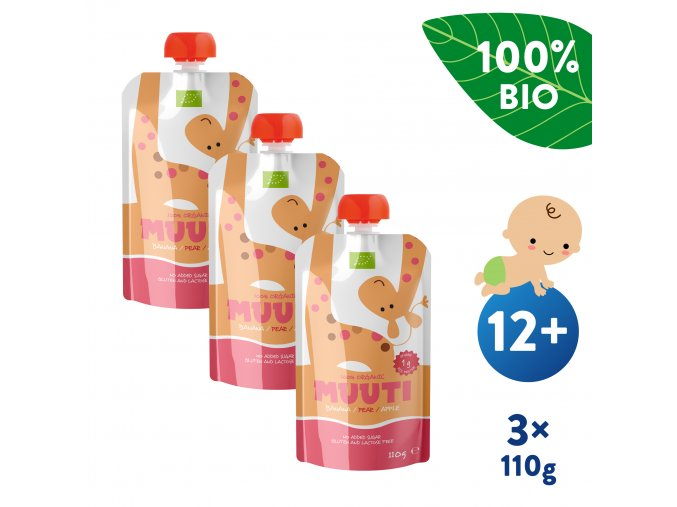 UNI Salvest MUUTI BIO Ovocne pyre s ananasovou stavou a ryzovym proteinem 3x110g 4740073072806