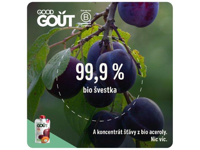 Good Gout BIO Švestka 120 g 3770002327463
