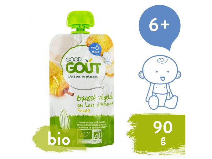 Good Gout BIO Mandlový dezert s hruškou 90 g 3760269310766