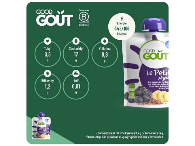 Good Gout BIO Borůvková snídaně 70 g 3760269310193