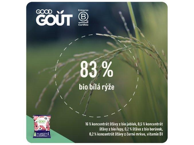 Good Gout BIO Mini rýžové koláčky s borůvkami 40 g 3770002327685