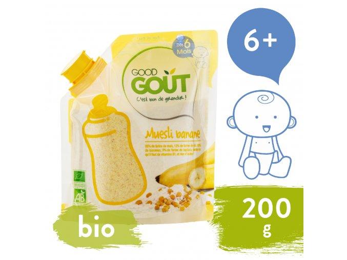 Good Gout BIO Dětská banánová instantní kaše v prášku 200 g 3770002327944