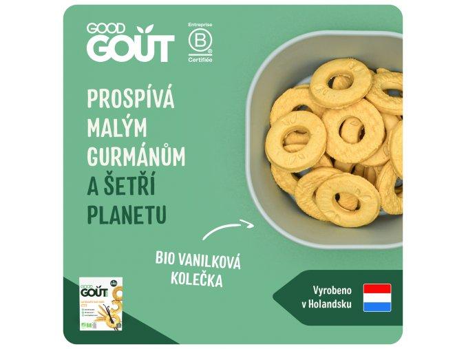Good Gout BIO Vanilková kolečka 80 g 3760269310254