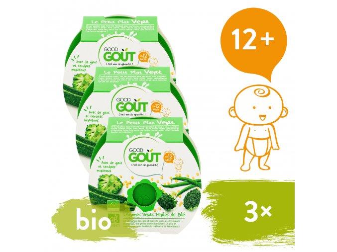 3xGood Gout BIO Brokolice, cuketa a zelené fazolky s tarhoňou 220 g 3760269310582