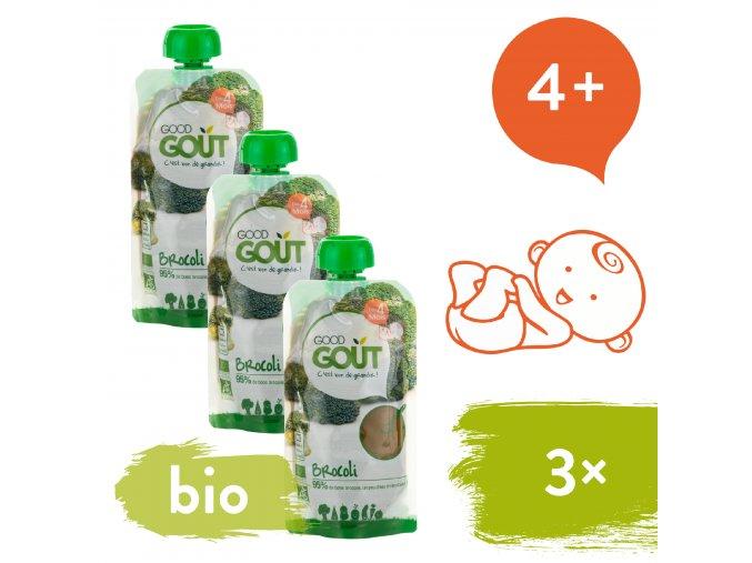 3xGood Gout BIO Brokolicové pyré 120 g 3770002327272