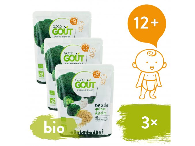3xGood Gout BIO Quinoa s brokolicí a ricottou 220 g 3770002327401