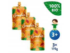 UNI Salvest Smushie BIO Ovocne smoothie s mangem pomerancem a datlemi 3x170g 4740073072639