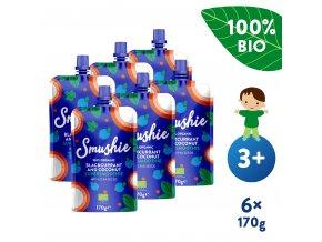 UNI Salvest Smushie BIO Ovocne smoothie s cernym rybizem kokosovym mlekem a chia seminky 6x170g 4740073072622