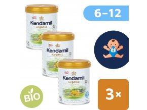 UNI Kendamil Organic pokracovaci mleko 3x800g 5056000501509