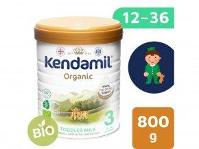 Poškozená plechovka - Kendamil BIO/organické plnotučné batolecí mléko 3 (800 g) DHA+