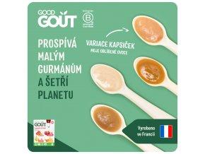 Good Gout BIO variace kapsiček Moje oblíbené ovoce (4x120 g)