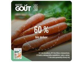 Good Gout Good Gout BIO Mrkev s farmářským kuřátkem 190 g 3770002327012