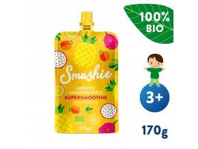 UNI Salvest Smushie BIO Ovocne smoothie s merunkou ananasem a lnenymi seminky 170g 4740073075234