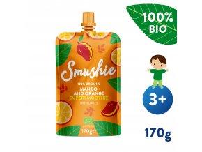 UNI Salvest Smushie BIO Ovocne smoothie s mangem pomerancem a datlemi 170g 4740073072639