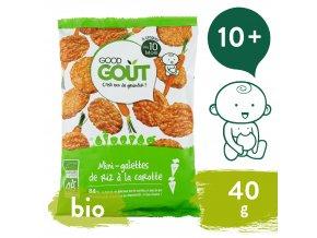 Good Gout BIO Mini rýžové koláčky s mrkví 40 g 3770002327357