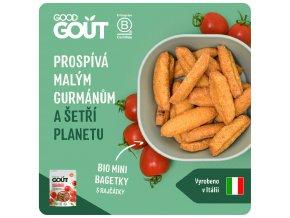 Good Gout Mini bagetky s rajčátky 70 g 3760269310216