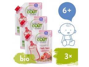 3xGood Gout BIO Dětská jahodová instantní kaše v prášku 200 g 3770002327746