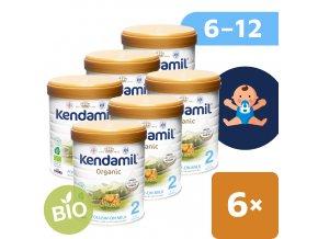 UNI Kendamil Organic pokracovaci mleko 6x800g 5056000501509