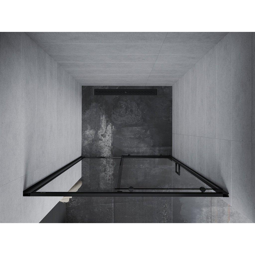 Mexen APIA sprchové posuvné dveře do otvoru 95cm, černá, 845-095-000-70-00
