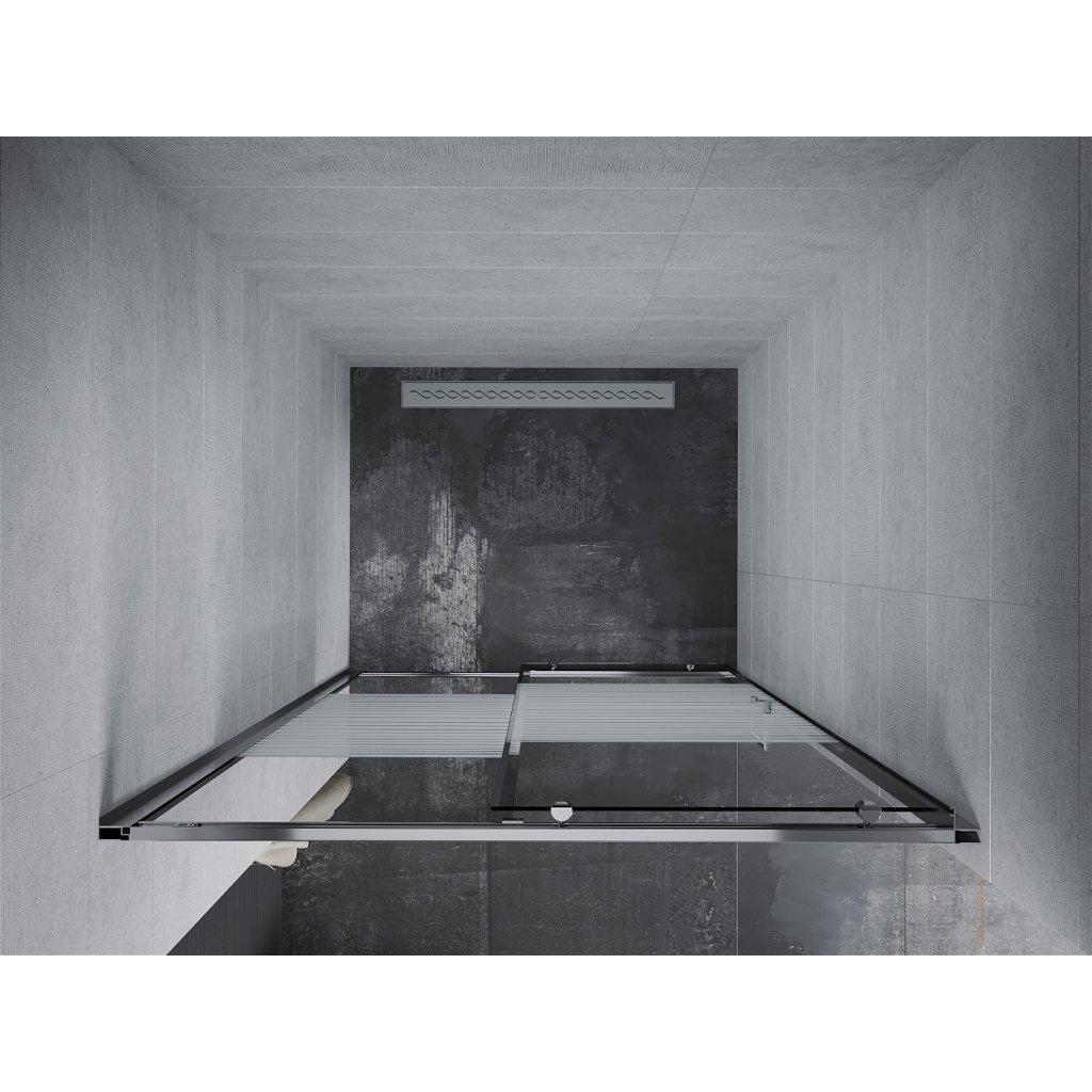 Mexen APIA sprchové posuvné dveře do otvoru 110cm, čiré / pásy, 845-110-000-01-20