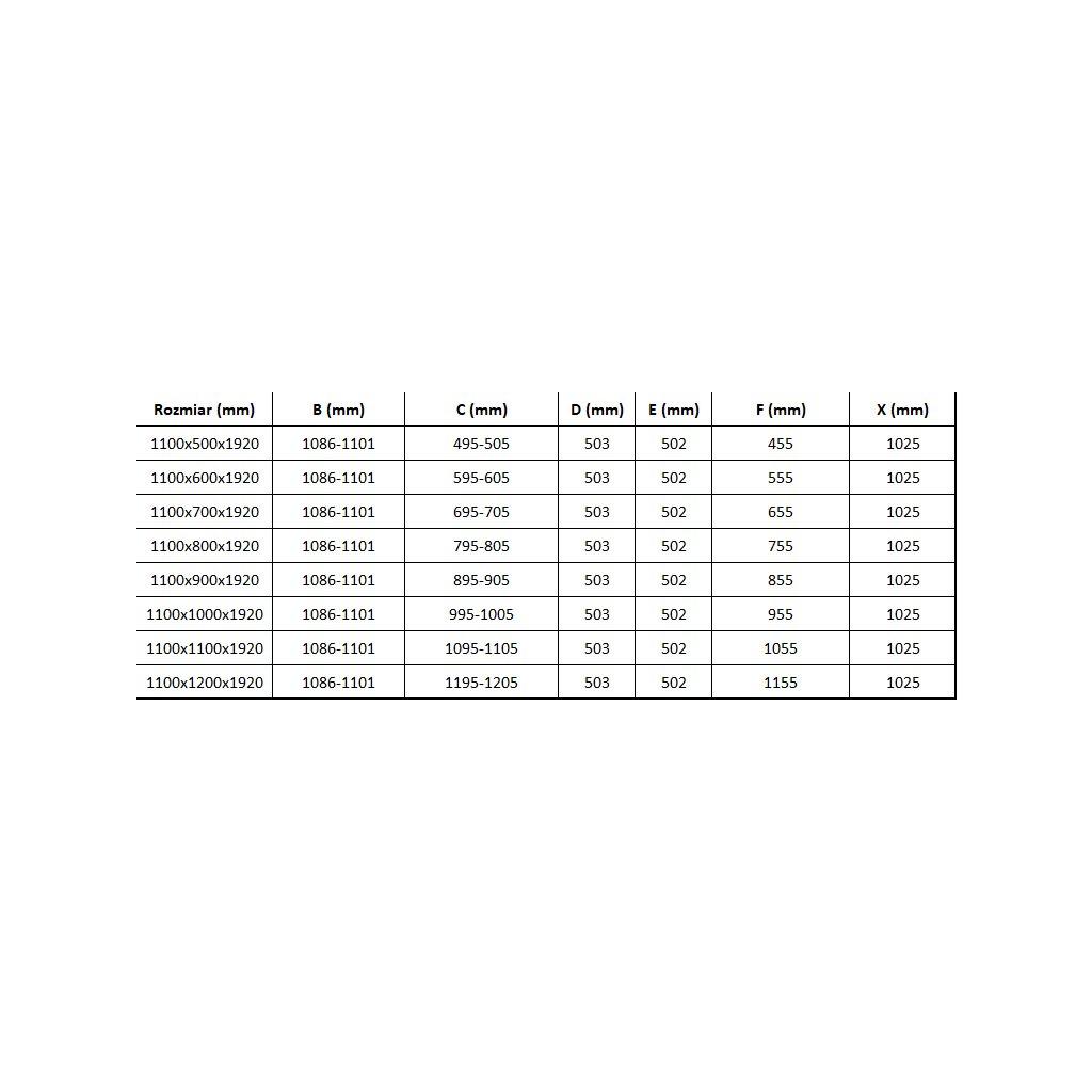Mexen Lima sprchový kout 110x90cm, 6mm sklo, chromový profil-čiré sklo, 856-110-090-01-00