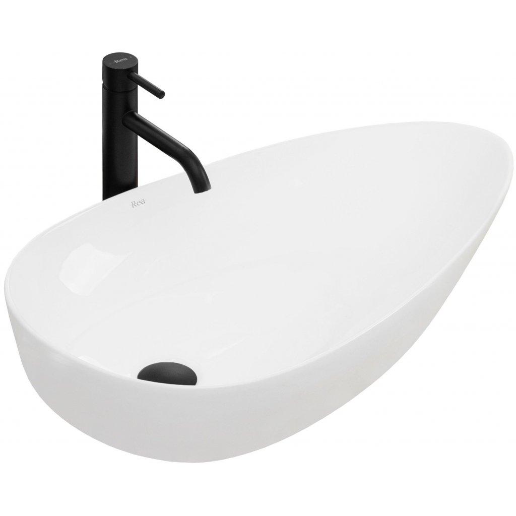 Rea Greta75 umyvadlo, 77 x 43 cm, bílá, REA-U1500